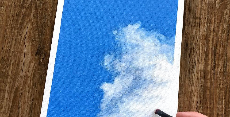 ORIGINAL Blue Sky Cloud Painting
