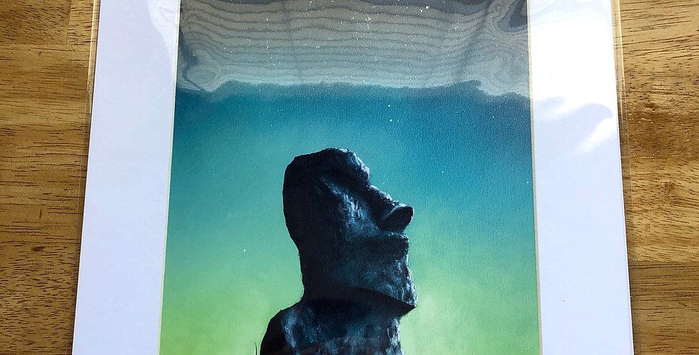Moai Statue Art Print