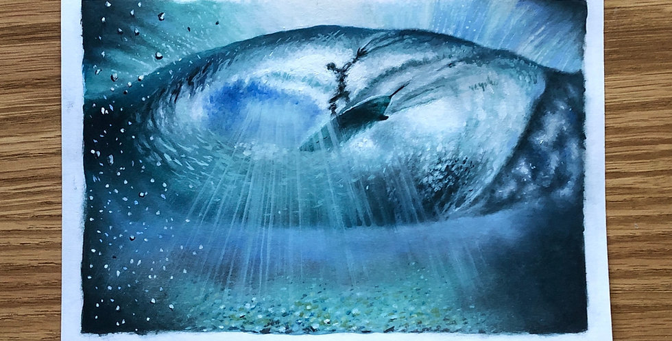 ORIGINAL In the Tube Surfing Painting