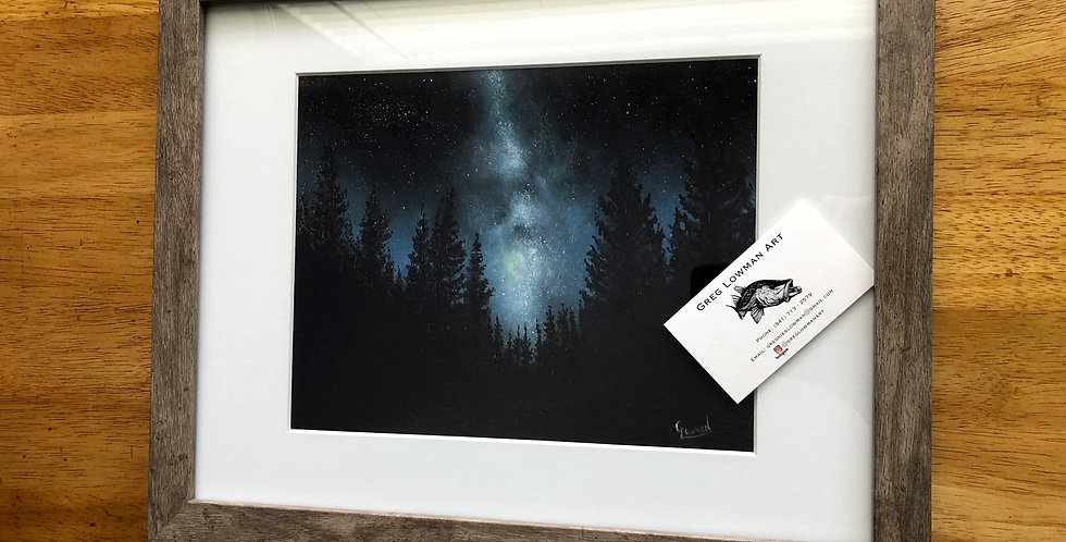 framed milky way night sky art print