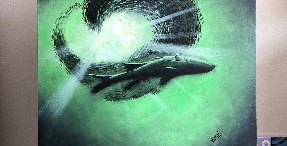 original acrylic sea life painting for sale