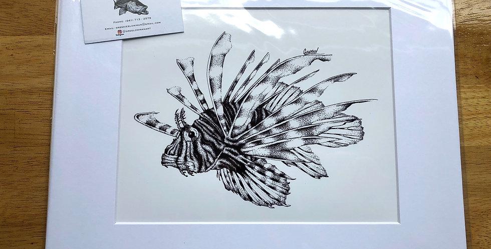 unframed volitan aquarium fish art prints for sale