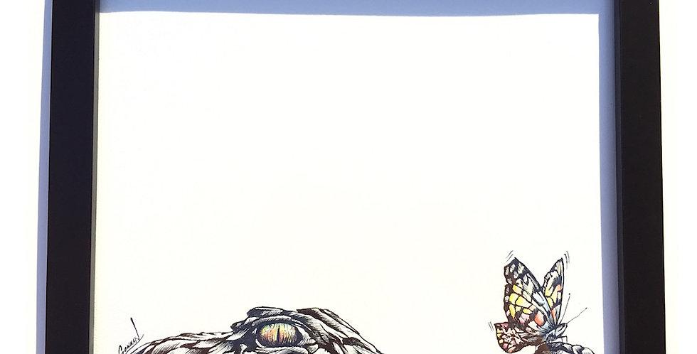 ORIGINAL Alligator Drawing