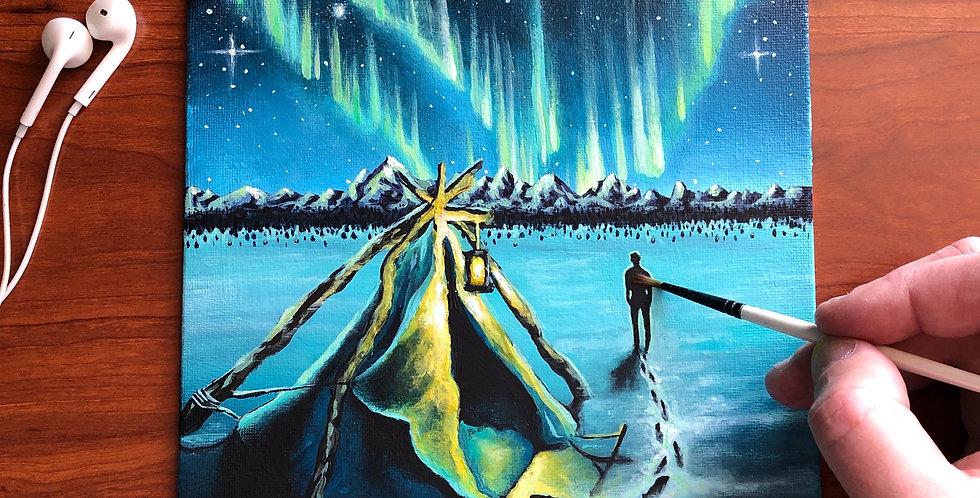 ORIGINAL Northern Lights Painting