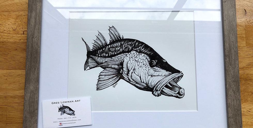 framed snook art print