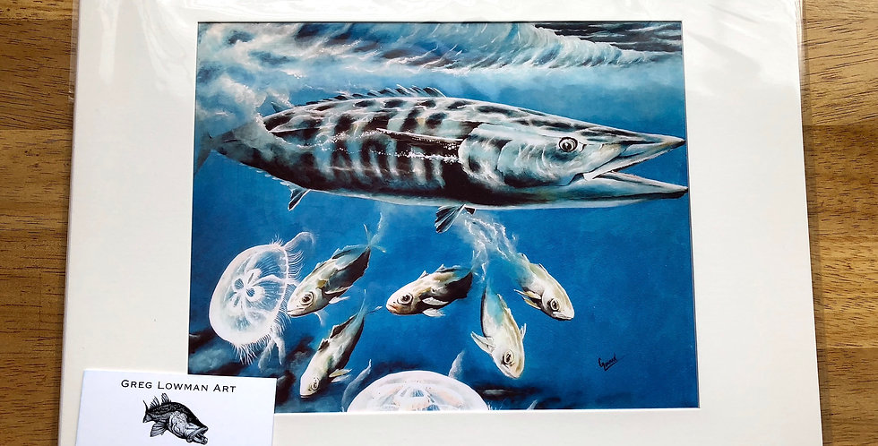 unframed sea life art print for sale