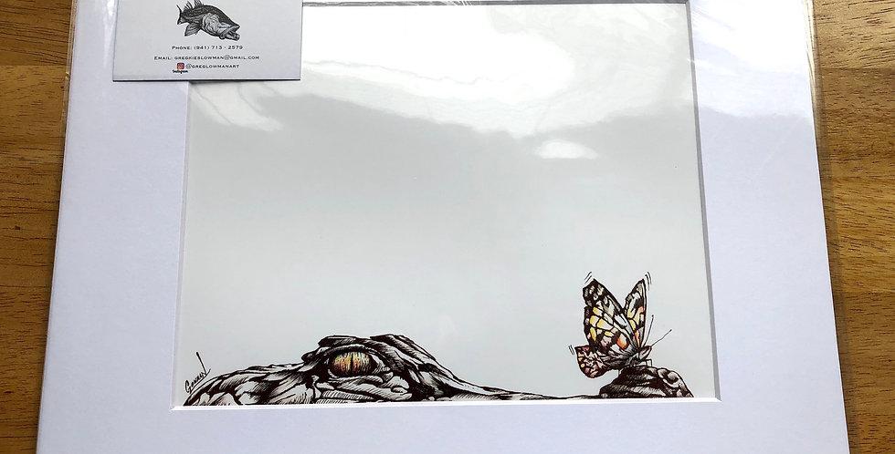 unframed alligator art prints for sale