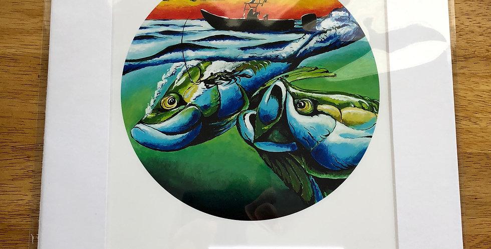unframed tarpon game fish art print