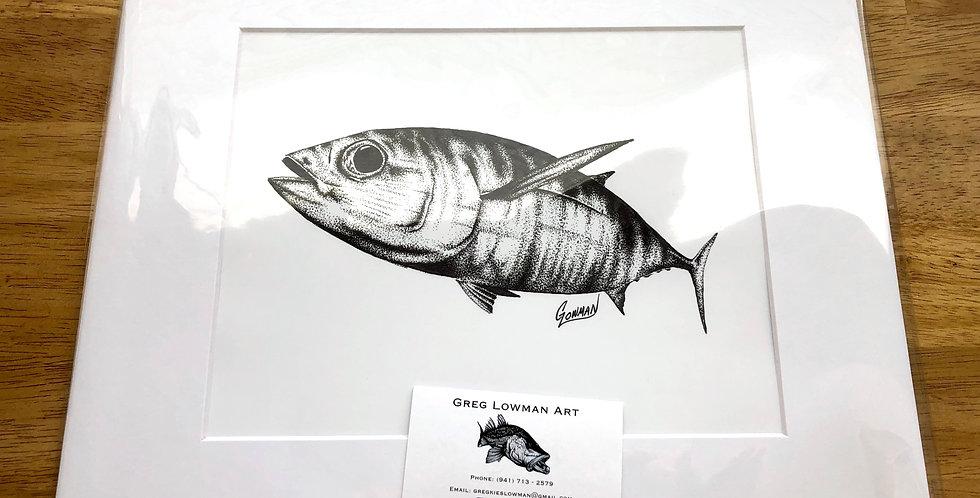 unframed tuna game fish art print