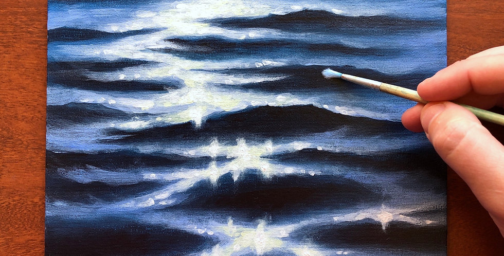 sunlight on the water painting