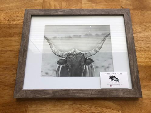 Framed Texas Longhorn Art Print