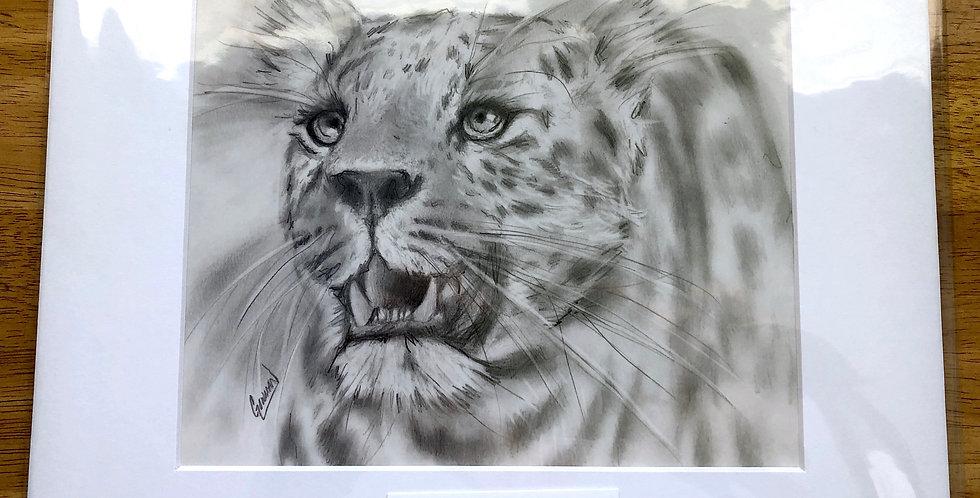 unframed jaguar art print for sale