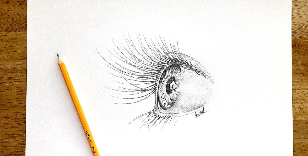 ORIGINAL Iris Drawing