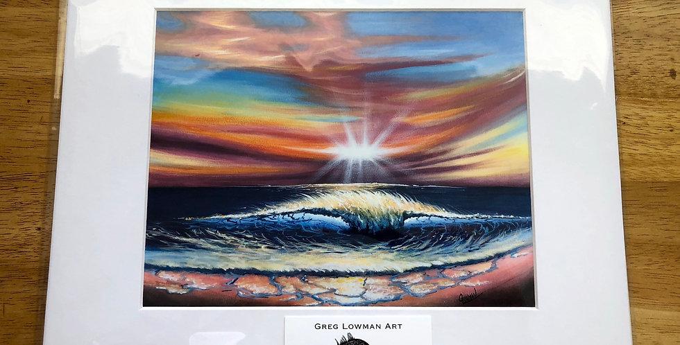 unframed sunset beach art print