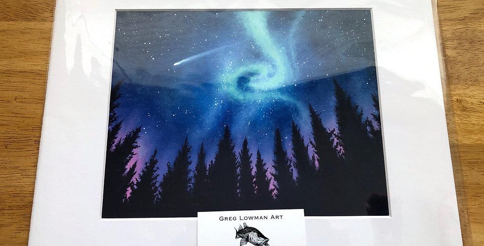 matted night sky art print
