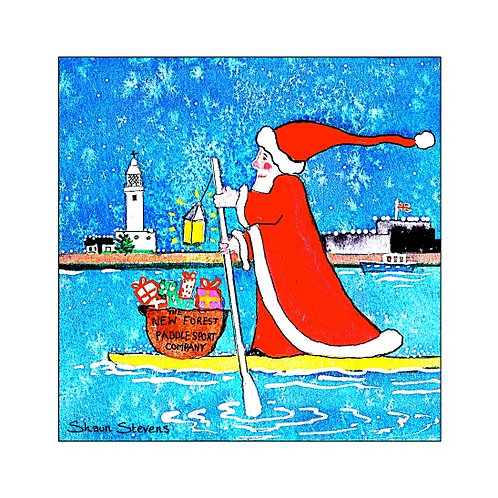 SUPing Father Christmas & Hurst Castle