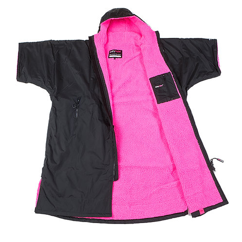 Dryrobe Advanced Short Sleeve Black Pink