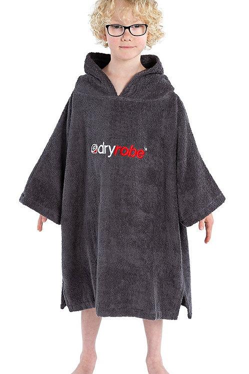 Kids Dryrobe Towel Robe Grey