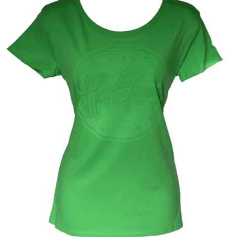 Hutch SUP Wear Ladies Maui T Shirt Green