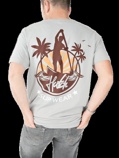 Hutch SUP Wear Grey Sandbanks T Shirt
