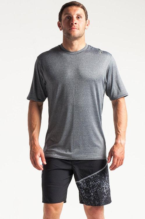 C-Skins Mens UV Skins Short Sleeve T Shirt Heather Grey