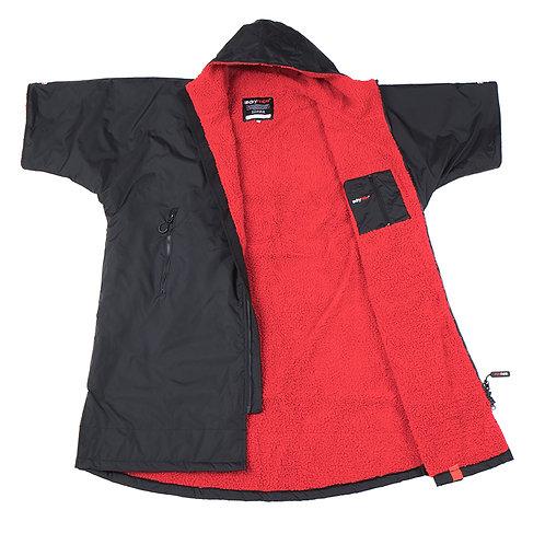 Dryrobe - Short Sleeve BLACK/RED