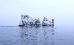 Paddle Boarding Isle of Wight Needles Light House
