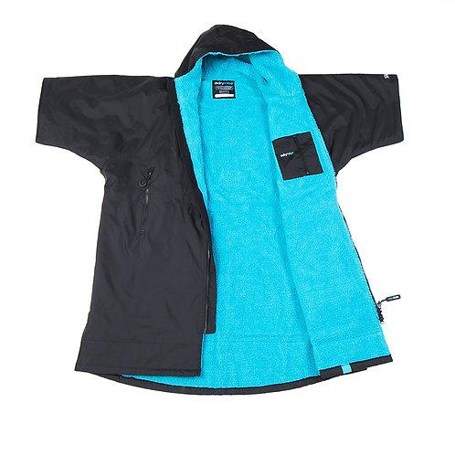 Dryrobe Advanced Short Sleeve Black Blue
