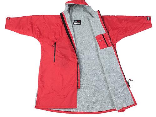 Dryrobe Advanced Long Sleeve Cobalt Red Grey