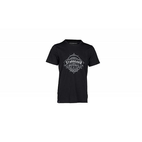 Starboard Mens Rustic T Shirt - Black