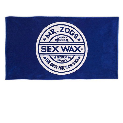Sex Wax Blue Beach Towel