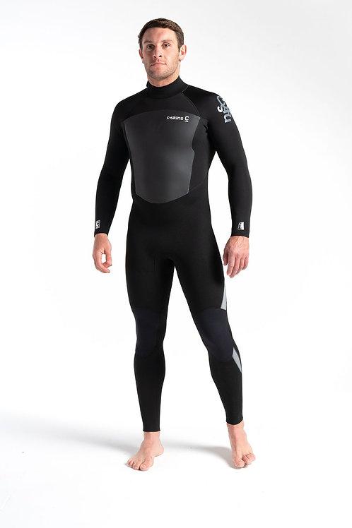 C-Skins Mens Legend Steamer 3:2 Wetsuit Black Front
