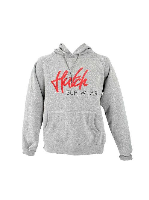 Hutch SUP Wear Mens Logo Hoodie Grey