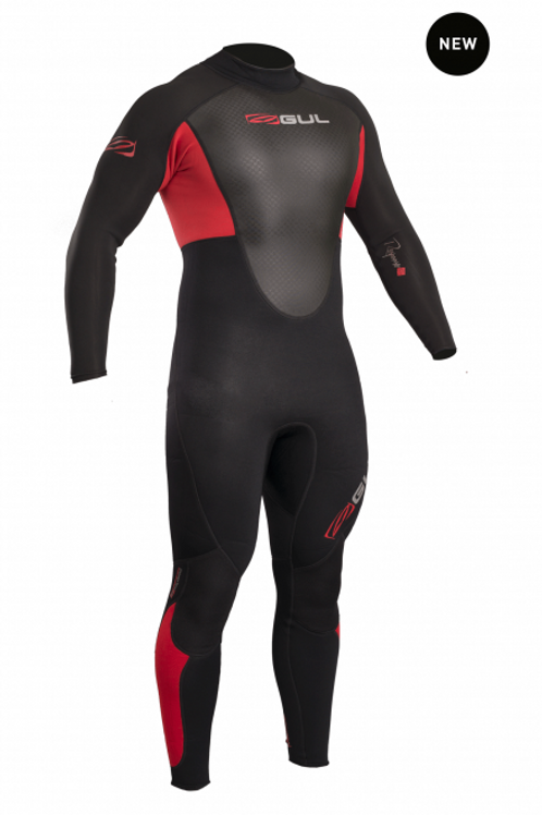 Gul Mens Response 3/2mm Wetsuit Red