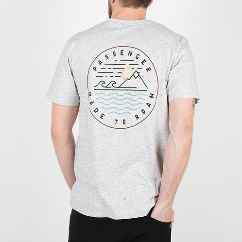 Passenger Clothing Lofoten T Shirt Flecked Grey Back