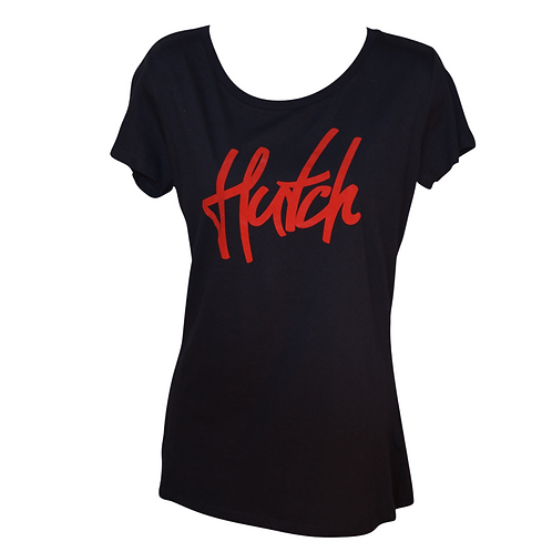 Hutch SUP Wear Ladies Logo T Shirt Navy