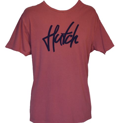 Hutch SUP Wear Mens Logo T Shirt Burgundy