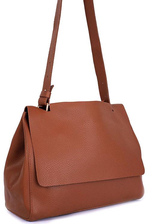Camel Faux Leather Bag