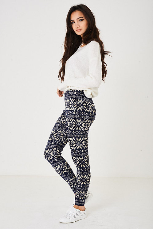 Chunky Knitted Winter Legging
