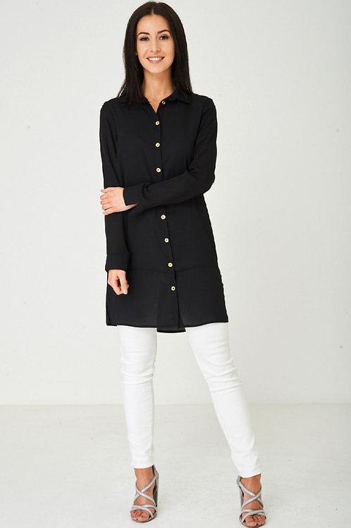 Jothirty Black Shirt Dress