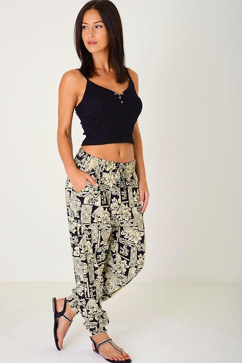 Printed Harem Trousers