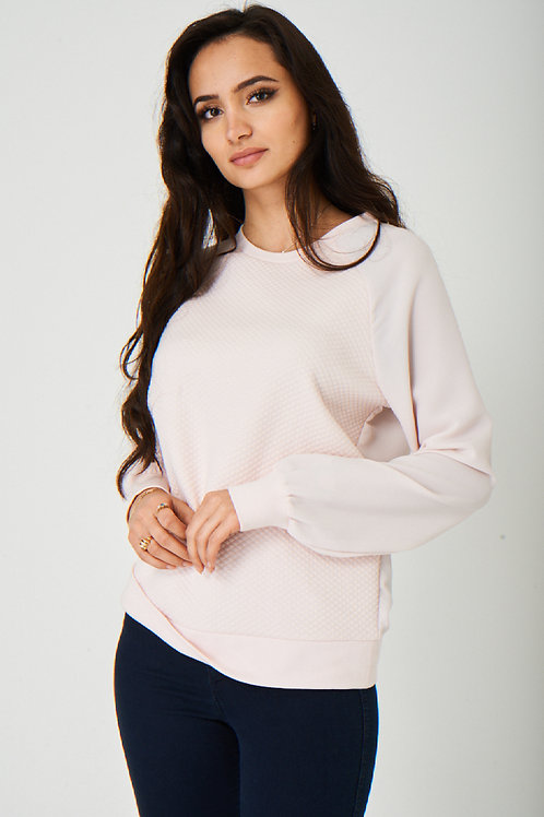 Quilted Pink Jumper