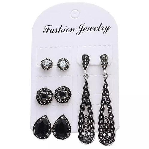 4 Pcs Bohemian Fashion Earrings
