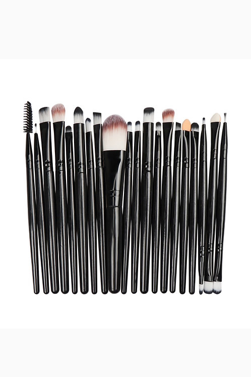 20pcs Black Makeup Brush Set