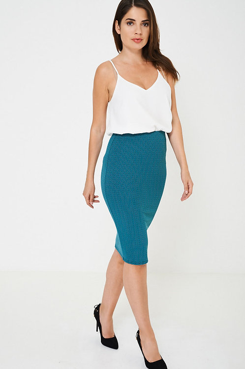Pencil Skirt in Textured Finish