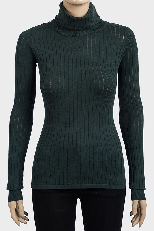 Fitted Roll Neck Knit Top