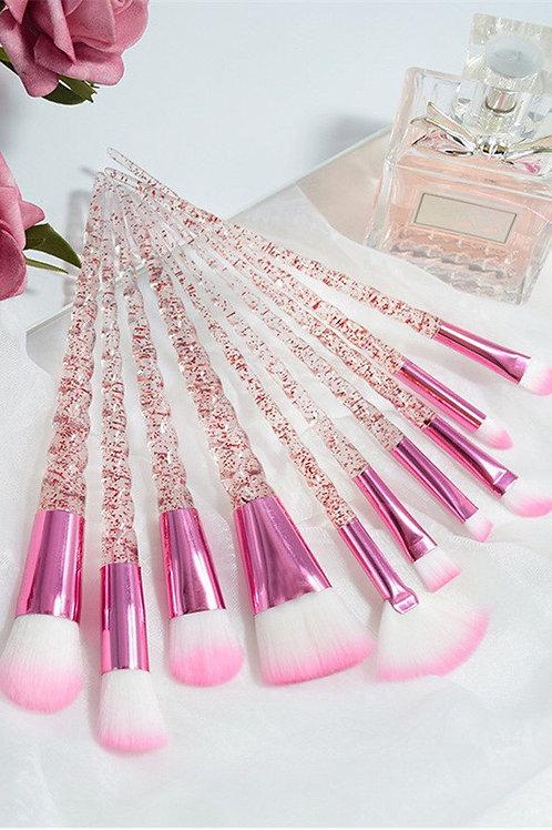 Pink Unicorn Makeup Brush Set
