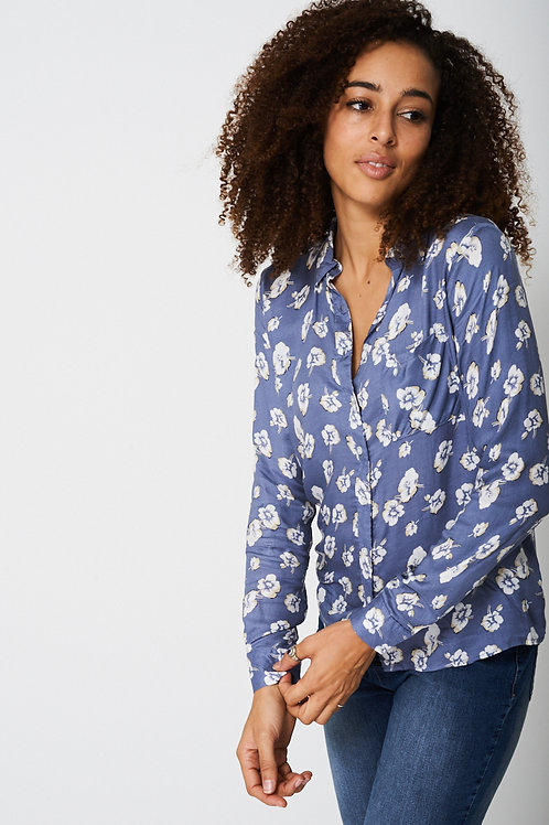 Lightweight Shirt In Floral Print
