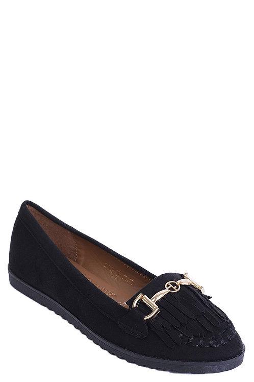 Tassel Flat Shoe in Black