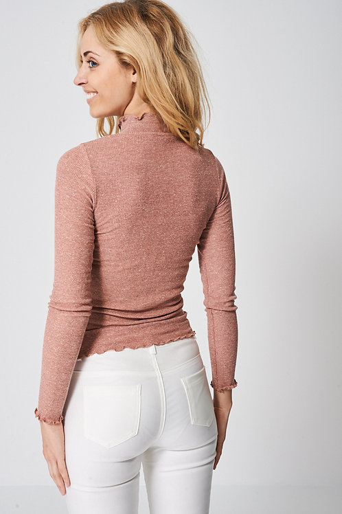Light Pink Polo Neck